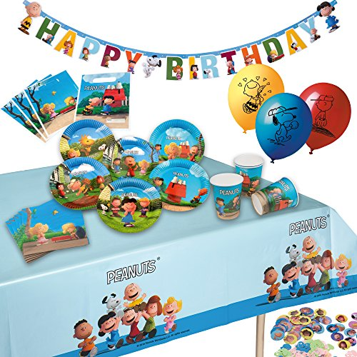 Tib Heyne 19570 Partyset Peanuts, One Size (Charlie Brown Party Supplies)
