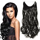 24' Extensions Cheveux Lisse Monobande - Extension Cheveux Synthétique 60CM(24 pouces) - Hair Extensions - Noir