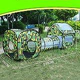 AUNLPB Giocare Tenda, Pieghevole per Interni ed Esterni Utilizzare Cerniera Custodia, Crawl Tunnel, Palla Pit Prairie Design, Borsa da Trasporto Portatile