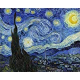 Ocher Art: Vincent Van Gogh: The Starry Night- Museum Quality Art Print On Canvas, (30x24 Inches)