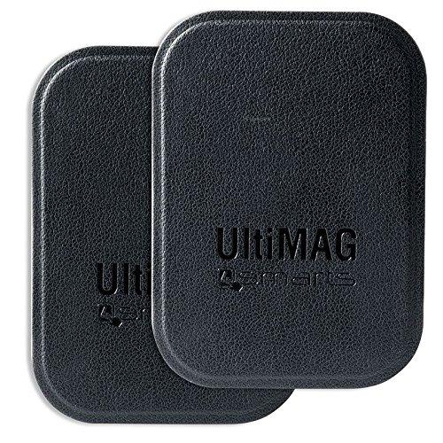 4smarts Metallplättchen UltiMAG 2 Stück Kunstleder schwarz