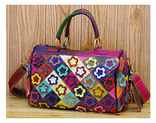 Leder Cool Damen Handtaschen, Hobo-Bags, Schultertaschen, Beutel, Beuteltaschen, Trend-Bags, Velours, Veloursleder, Wildleder, Tasche Mehrfarbig Keshi