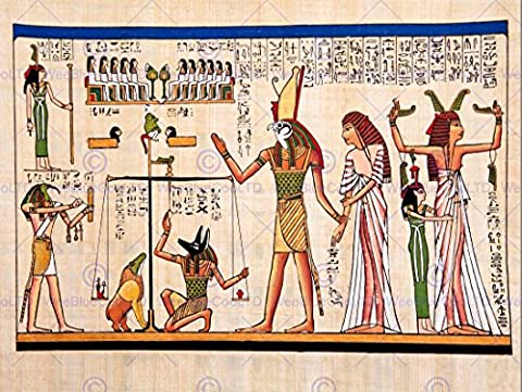 PAINTING ANCIENT EGYPTIAN HEIROGLYPHICS HORUS THOTH ANUBIS MURAL ART POSTER AFFICHE PRINT BMP10851