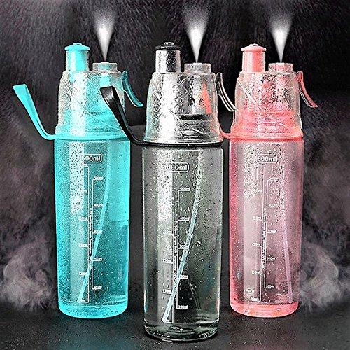 bureze Sport Spray-Flasche Reise tragbar großes Fassungsvermögen Feuchtigkeitsspendende Wasser Flasche Cup (Große Spray Flasche)