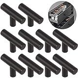 Ziyero 10 stuks T-vormige geborsteld legering handvat enkele gat kast handvat moderne keukenkast meubels handgrepen zeker duu