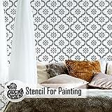 JANNAH Wand Möbel Fußboden Schablone für Malerei - Möbel Mittel