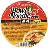 Nong Shim Instantnudeln Kimchi Bowl Noodle Soup – Koreanische Ramen Nudelsuppe - schnelle Zubereitung – 12er Vorteilspack à 86g