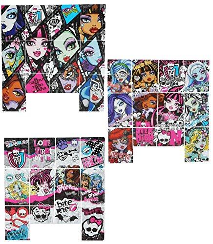 Unbekannt 36 tlg. Set Sticker / Aufkleber - Monster High - selbstklebend - für Mädchen pink Gothik Puppen Stickerset Kinder - z.B. für Stickeralbum / Draculaura Vampir