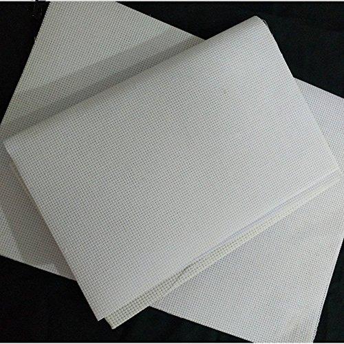 Cleana Arts 8 Packung Kreuzstich Stoff Aida Stoff Standard Aida Weiß 14 Count 45cm X 30cm, Weiß