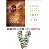 The Secret by Rhonda Byrne + Good Vibes, Good Life by Vex King ( Free Customized Bookmark included)