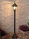 Antike LED Energiespar-Stehleuchte für den Aussenbereich 5 Watt Gartenleuchte