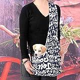 WINOMO Dauerhafte englische Buchstaben gedruckt Oxford Tuch Single-Schulter Sling Bag Haustier Hund Katze Tasche - Größe S