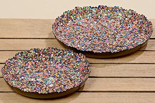 Hanse Glücks-Manufaktur GmbH Plateau décoratif en Fer Multicolore Cadeau 22 cm