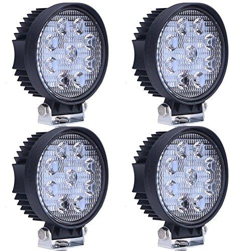 Preisvergleich Produktbild VINGO®4x 27w LED Arbeitsbeleuchtung Runde Offroad Scheinwerfer LKW Man Zubehör Weiß Strahler 10-30V