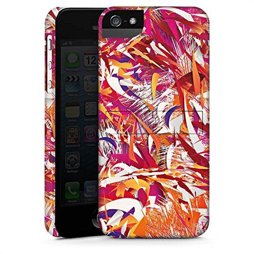 Apple iPhone X Silikon Hülle Case Schutzhülle Farben Muster Chaos Premium Case StandUp