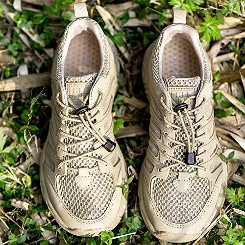 gratuit Soldat d'extérieur pour homme montante Chaussures Ultra léger respirant Séchage rapide Chaussures Sand Color