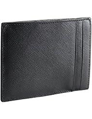 Cadwell - Porte Cartes / Porte Papier Cadwell - Cuir de Vachette façon Saffiano - Noir