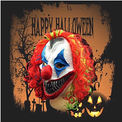 VIDOO Halloween-Maske Creepy Clown Head Erwachsenen Kostüm Party Fancy Prop Random Colo