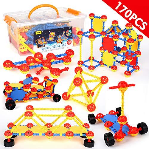 LBLA Spielzeug 8 7 6 5 4 3 Jahre Junge,Kreativ Bausteine für Kinder,Konstruktion Blöcke,Bauklötze,Konstruktionsspielzeug,Lernspielzeug,Geschenk für Kinder,170 PCS