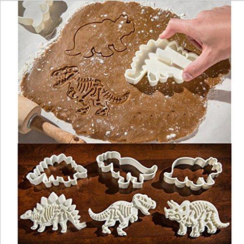 hunpta Dinosaurier-Form Cookie Cutter Kekse 3D Form zum Backen weiß