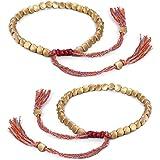 Braccialetti Tessuti -YUESEN Braccialetto Tibetano,Braccialetto Buddista Tibetano Fatto a Mano Intrecciato con Perline di Ram
