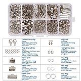 pandahall Elite 1 Schmuck DIY Verbindungsringe Schmuckherstellung Set Starter Kit Ohrring Armband Halsketten Schmucksachen mit Karabinerverschluss Jump Ringe