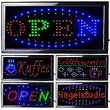 LED Leuchtreklame Werbung, LED Schild, Leuchtschild Noyan® (OPEN)