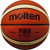 MOLTEN BGMX Parallel Pebble - Pelota de Baloncesto, Color Naranja, Talla 6 cm