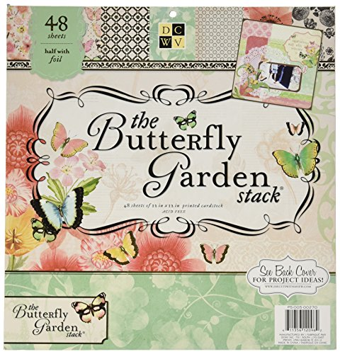 Paper Stacks DCWV Butterfly Garden Papierblock (Butterfly Paper)