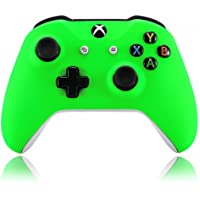 eXtremeRate Neon Green Soft Touch Grip Front Housing Shell Faceplate for Microsoft Xbox One X & One S Controller