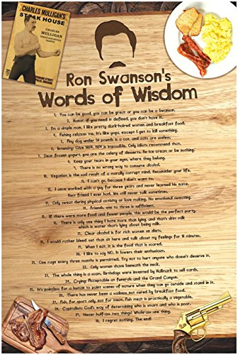 ron-swansons-words-of-wisdom-poster-treat-yo-self-to-30-of-parks-recreations-funniest-swansonisms