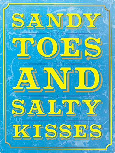 Sandy Toes & Kisses-Insegna in latta