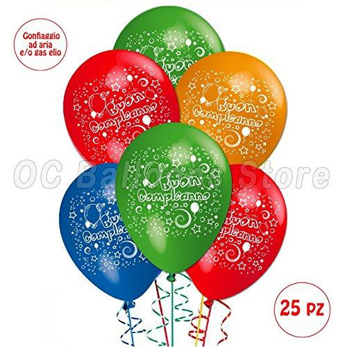 Palloncini Compleanno addobbi e decorazioni per feste party confezione 25pz