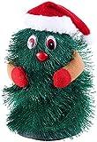 infactory Singender Tannenbaum: Singender & Tanzender Weihnachtsbaum Little Swinging Xmas Tree, 15cm (laufender Baum zu Weihnachten)