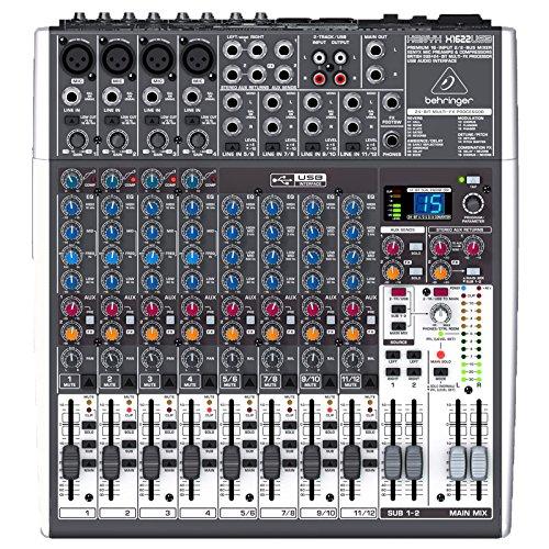 2USB 16-Kanal 2/2 Bus Mischpult mit XENYX Mic Preamps, 1-knob Kompressoren, 24-bit Multi-FX und USB Audio Interface ()