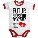 Dirty Fingers Conception Cravate avec Drapeau Fran/çais T-Shirt b/éb/é 100/% Coton