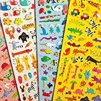 Five Sets of Japanese Stickers - Animals, Dinosaurs, Sea Life, Safari & Pandas - Great Children