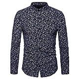 Herren Oberteile,TWBB Herbst Cashew Blumen Drucken Pullover V-Neck Schlank Sweatshirt Lange Ärmel Shirt