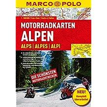 MARCO POLO Motorrad-Karten Alpen 1:300 000 (Motorrad Reisekarten 1:300.000)