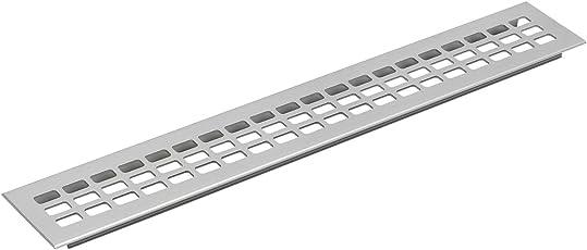 Lüftungsgitter Länge 400 mm, Breite 100 mm, Aluminium natur eloxiert