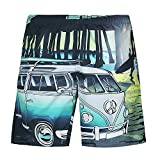 Pantaloncini da Spiaggia Uomo LandFox beach shorts pantaloncini da spiaggia da spiaggia stampati casual da uomo plus size Beachwear Calzoncini da Bagno stampa auto car Stampato kawaii