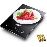Housmile Balance de Cuisine Alimentaire Bouton Tactile Sensible Haute Précision Affichage à Écran LED, Piles Fournies, 5kg, Noir