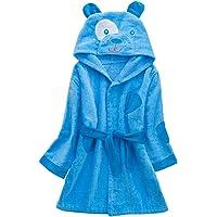 Accappatoi per Bambini con Cappuccio Ragazzi Ragazze Pigiama per Infantile 3-5 Anni, Blu