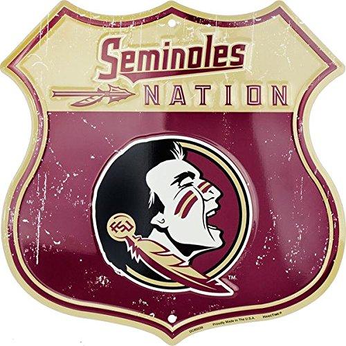 HangTime Seminole Nation-FSU seminles Route Schild Fsu Fan-tag