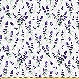 ABAKUHAUS Lavendel Stoff als Meterware,