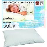 PERLARARA IL GUANCIALE Culla Cuscino Baby Lettino Puro Cotone E Fibra Anallergico CM 40 x 60 Lavabile