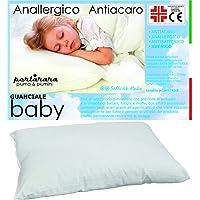 PERLARARA - Oreiller enfant 40 x 60 en coton, coussin pour lit bébé hypoallergénique, lavable