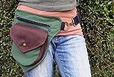Riñonera verde y marrón, cinturon para tu disfraz de hada
