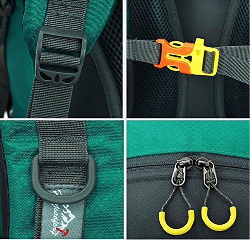 50L 40L Outdoor-Rucksack Sporttasche Spielraum-Rucksack Wandern Radfahren Tasche Klettern Wasserdichte Rucksack orange 40l