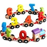 Toyshine Wooden Train Educational Model Vehicle Toys Vehicle Pattern 0 to 9 Number, Educational Learning Toys